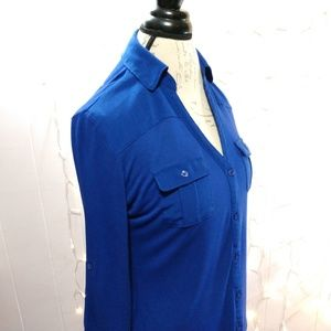 New York & Company Blue Button Down